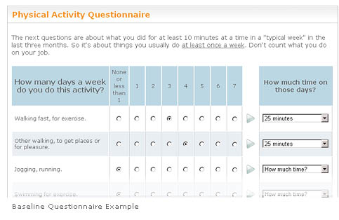 Example of Baseline Questionnaire